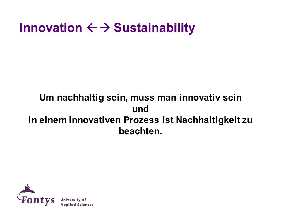 Innovation  Sustainability