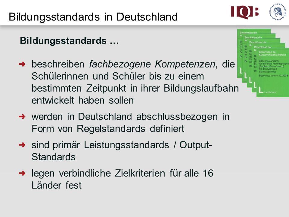 Bildungsstandards in Deutschland