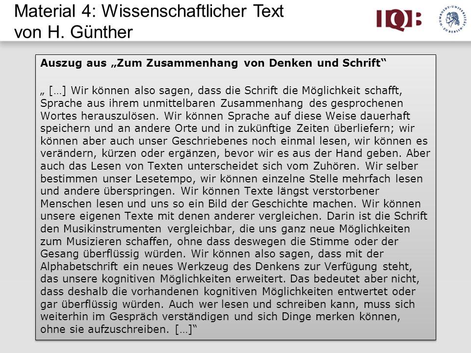 Material 4: Wissenschaftlicher Text von H. Günther