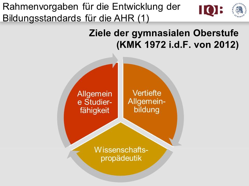 Ziele der gymnasialen Oberstufe (KMK 1972 i.d.F. von 2012)