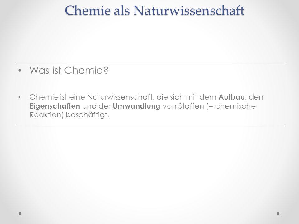 Chemie als Naturwissenschaft