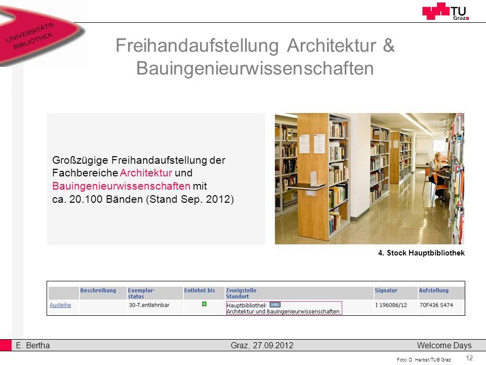 Freihandaufstellung Architektur & Bauingenieurwissenschaften