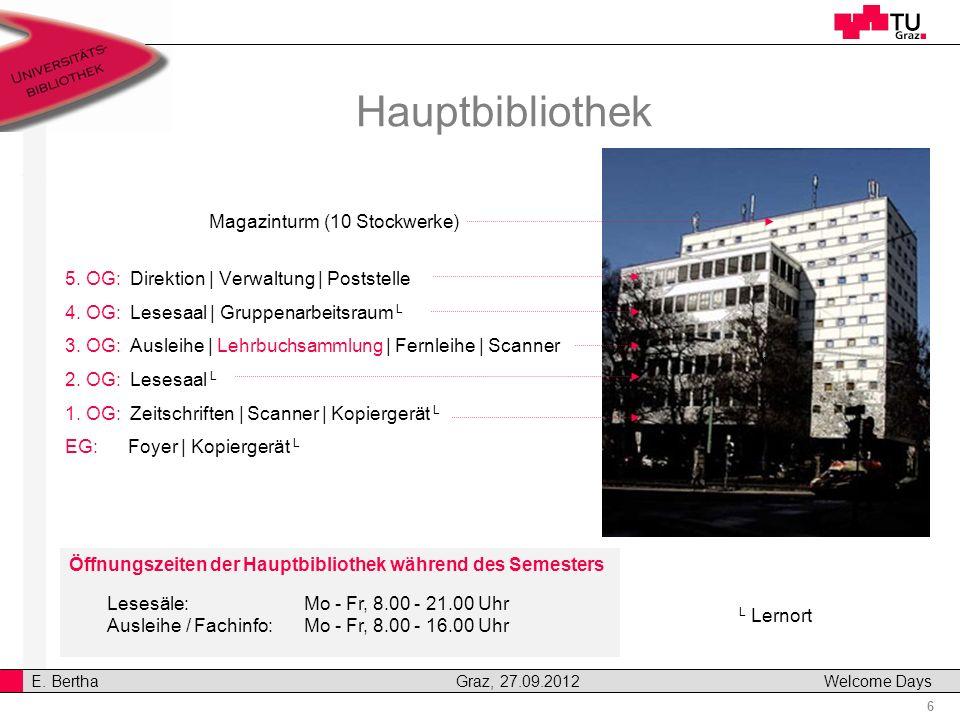 Hauptbibliothek Magazinturm (10 Stockwerke)