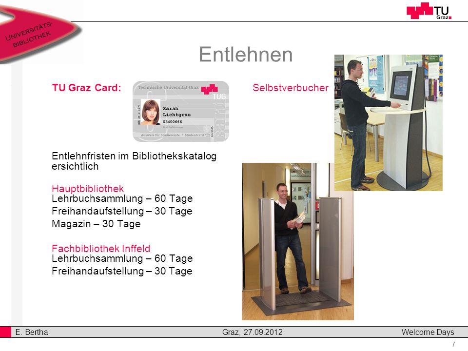 Entlehnen TU Graz Card: