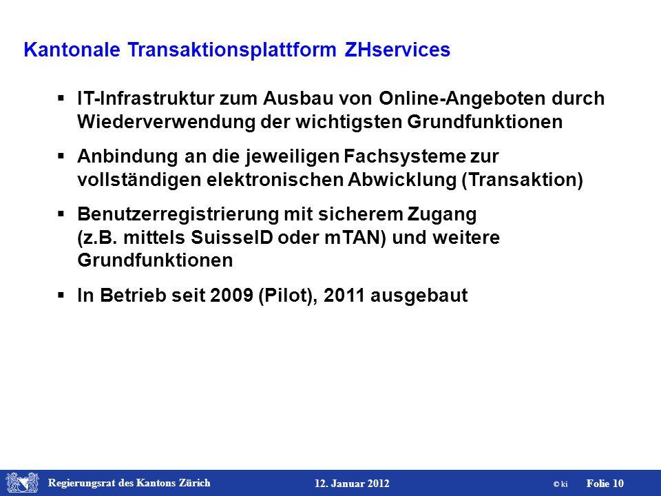 Kantonale Transaktionsplattform ZHservices