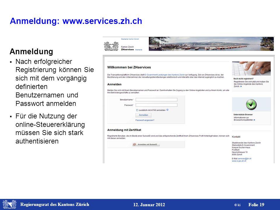 Anmeldung: www.services.zh.ch