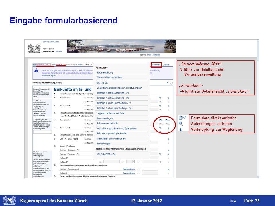 Eingabe formularbasierend