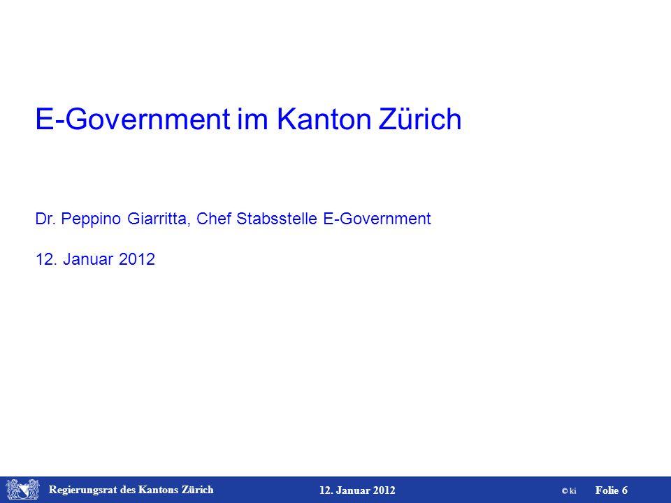 E-Government im Kanton Zürich