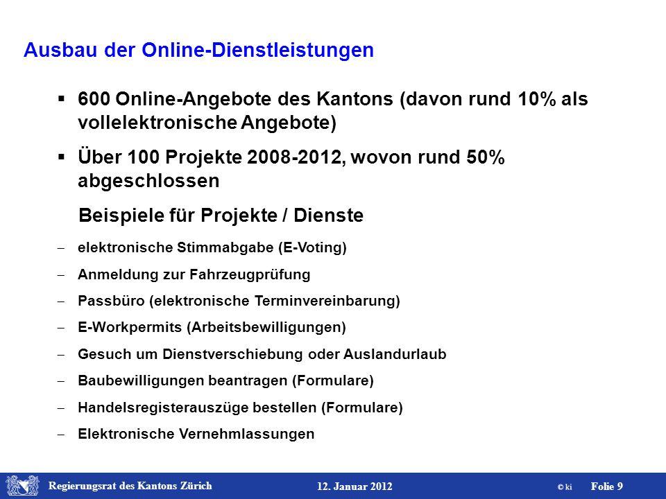 Ausbau der Online-Dienstleistungen
