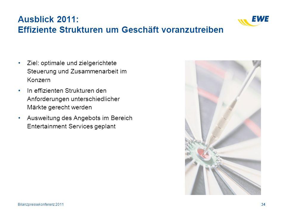 Ausblick 2011: Effiziente Strukturen um Geschäft voranzutreiben