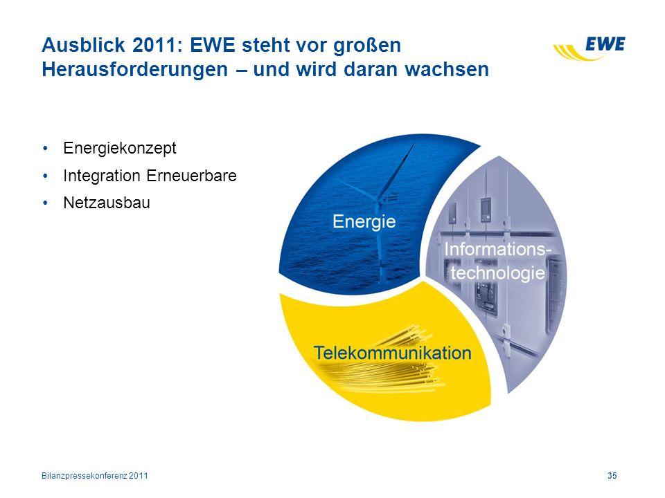 Ausblick 2011: EWE steht vor großen Herausforderungen – und wird daran wachsen