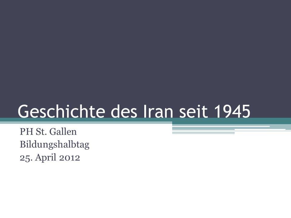 Geschichte des Iran seit 1945