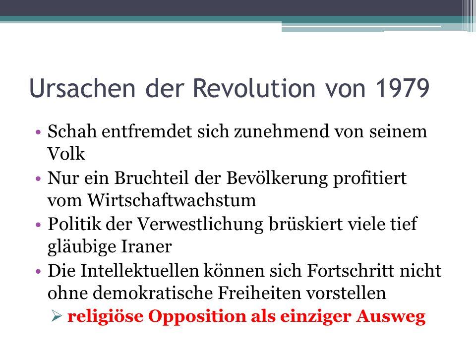 Ursachen der Revolution von 1979