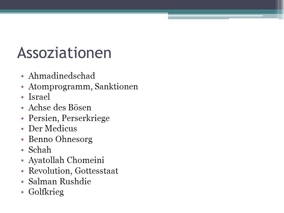 Assoziationen Ahmadinedschad Atomprogramm, Sanktionen Israel
