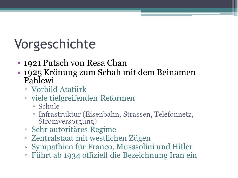 Vorgeschichte 1921 Putsch von Resa Chan