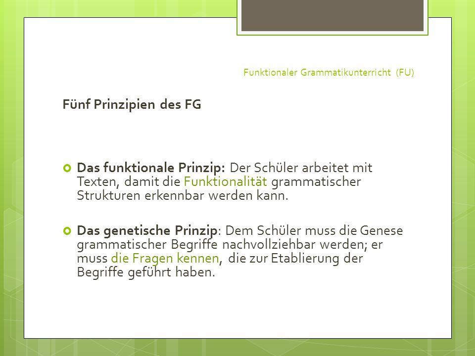 Funktionaler Grammatikunterricht (FU)