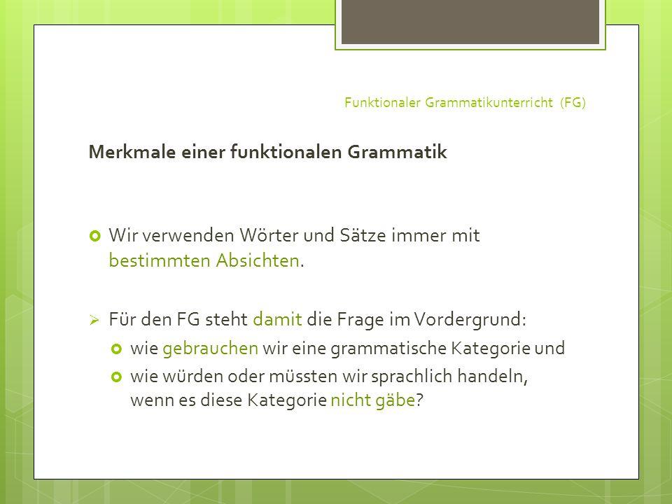 Funktionaler Grammatikunterricht (FG)