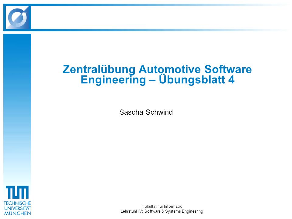 Zentralübung Automotive Software Engineering – Übungsblatt 4