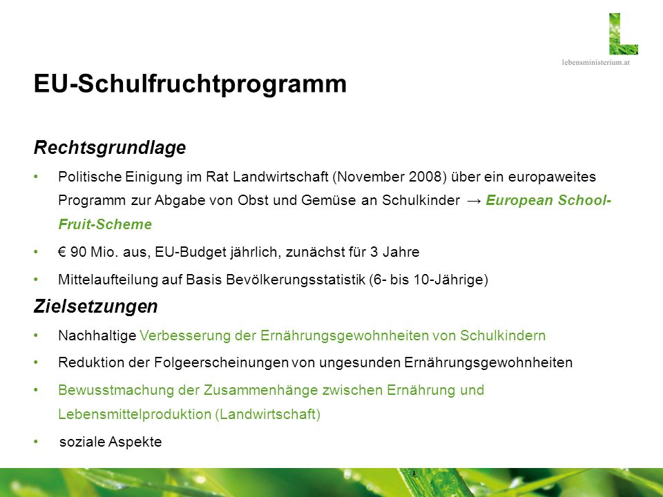 EU-Schulfruchtprogramm