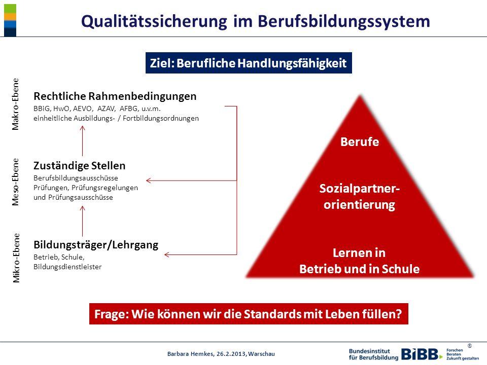 Qualitätssicherung im Berufsbildungssystem