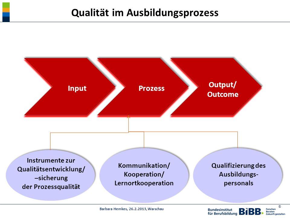 Qualität im Ausbildungsprozess