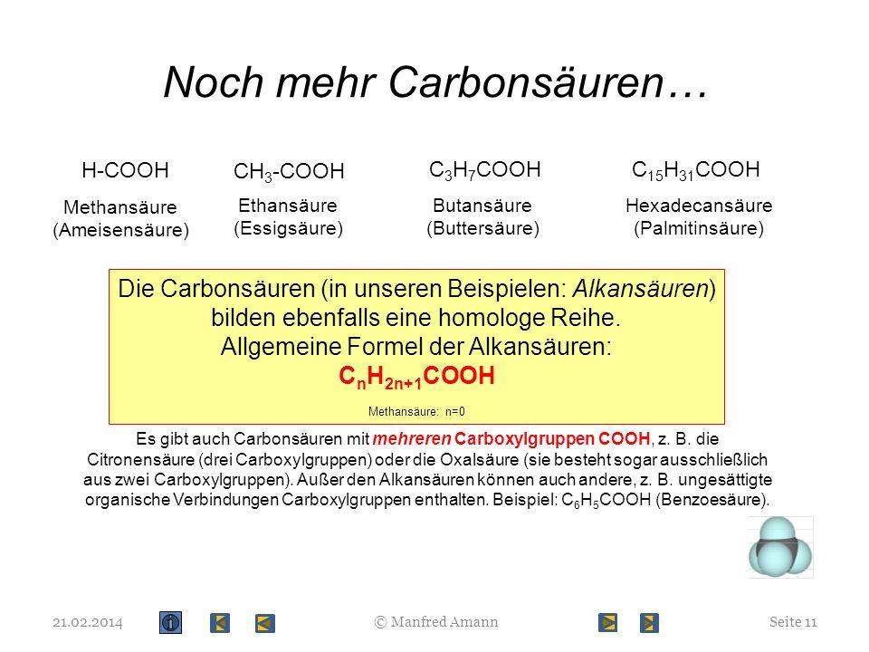 Noch mehr Carbonsäuren…