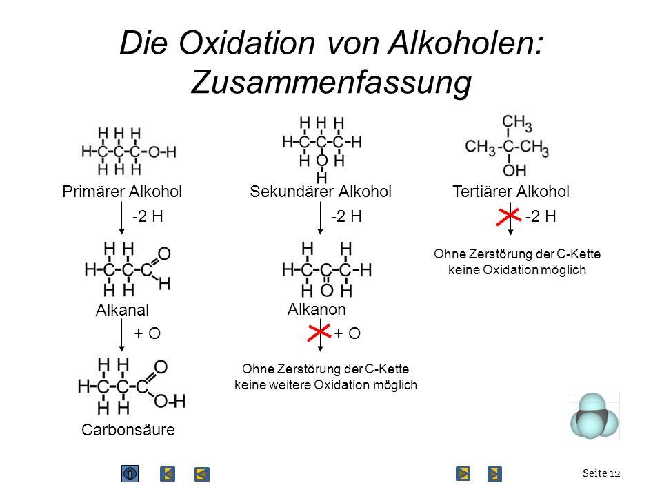 Die Oxidation von Alkoholen: Zusammenfassung