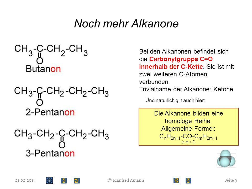 Noch mehr Alkanone