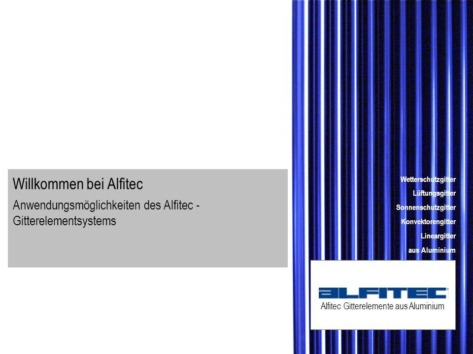 Alfitec Gitterelemente aus Aluminium