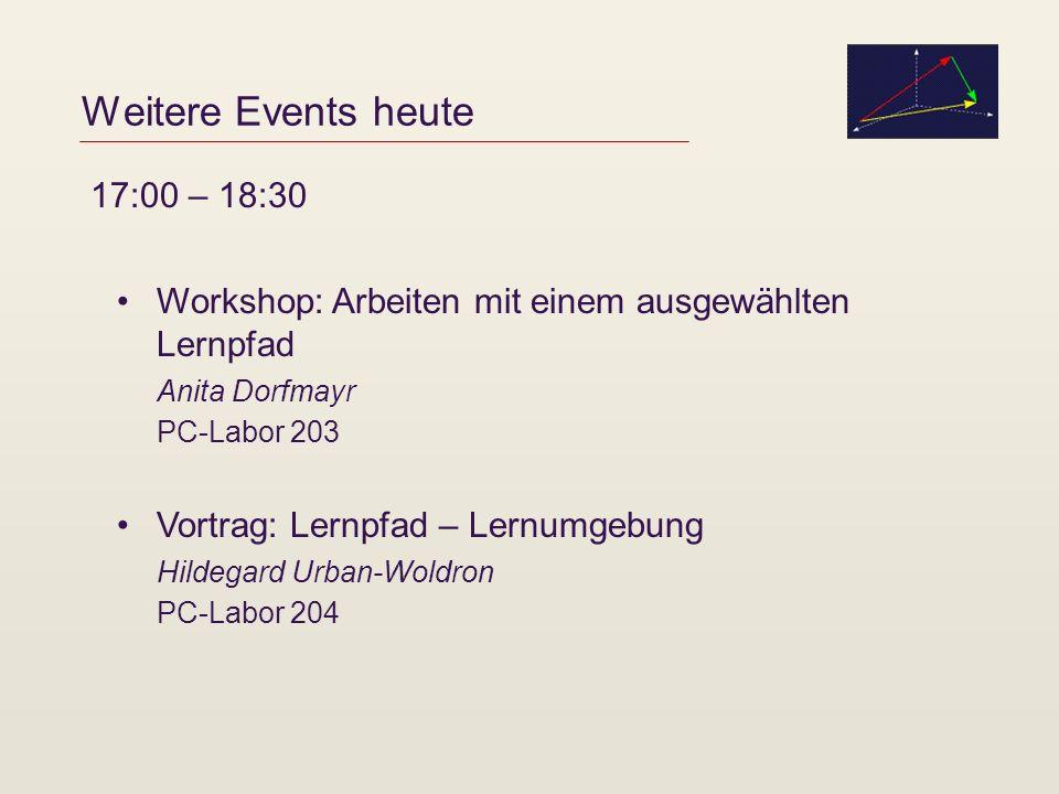 Weitere Events heute 17:00 – 18:30