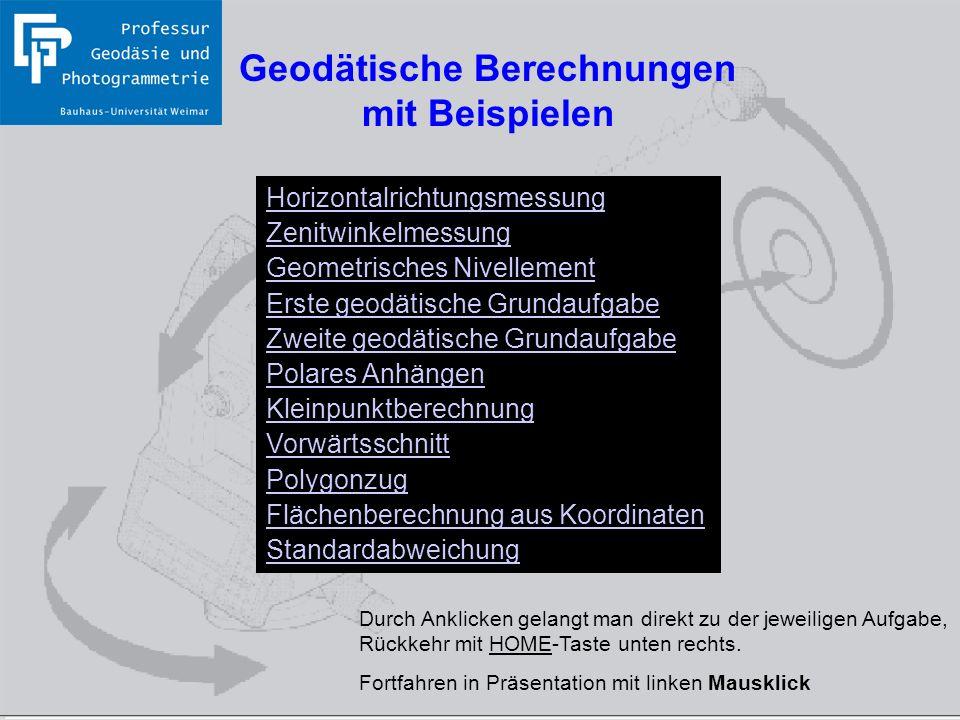 Geodätische Berechnungen