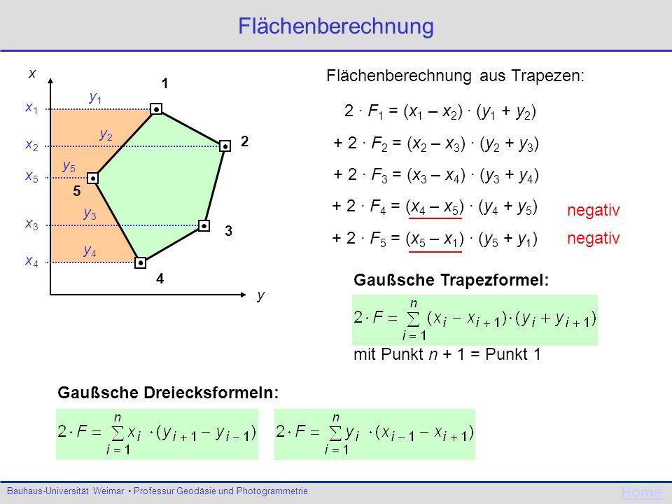 Flächenberechnung Flächenberechnung aus Trapezen: