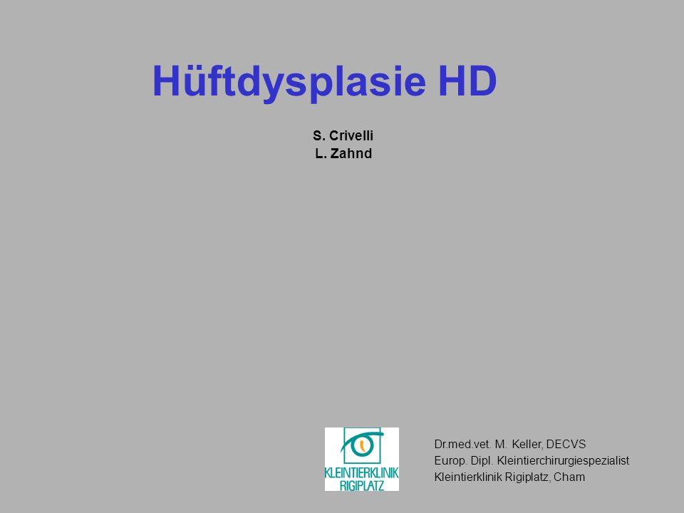 Hüftdysplasie HD S. Crivelli L. Zahnd Dr.med.vet. M. Keller, DECVS