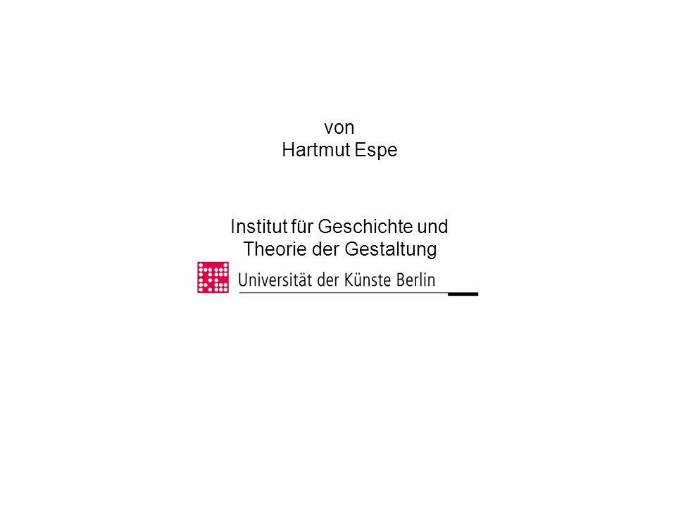 Institut für Geschichte und Theorie der Gestaltung