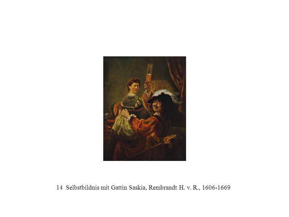 14 Selbstbildnis mit Gattin Saskia, Rembrandt H. v. R., 1606-1669