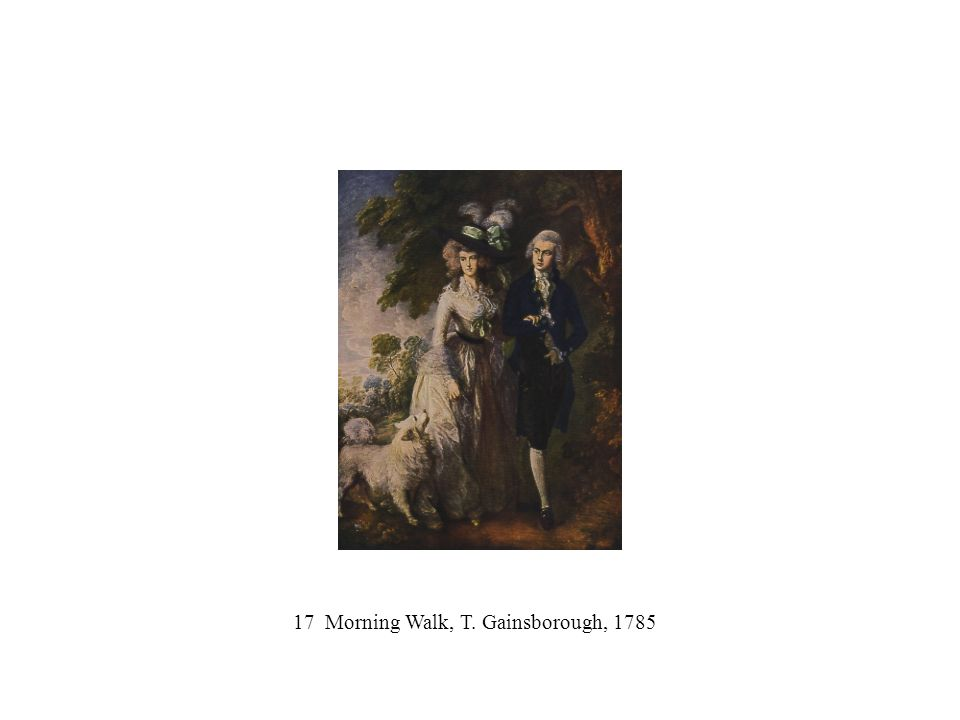 17 Morning Walk, T. Gainsborough, 1785