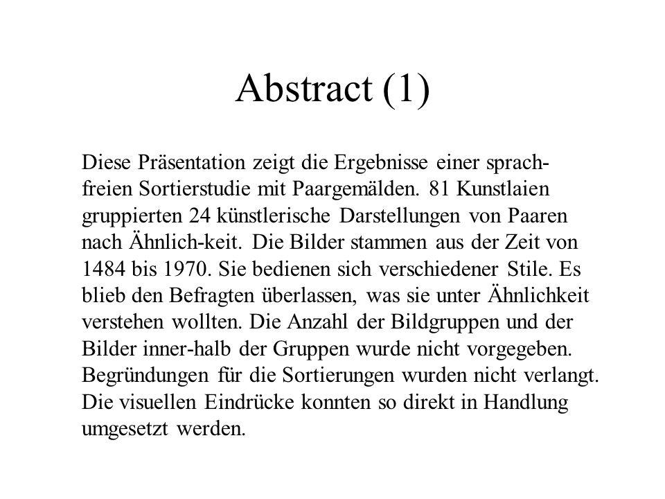 Abstract (1) Diese Präsentation zeigt die Ergebnisse einer sprach-