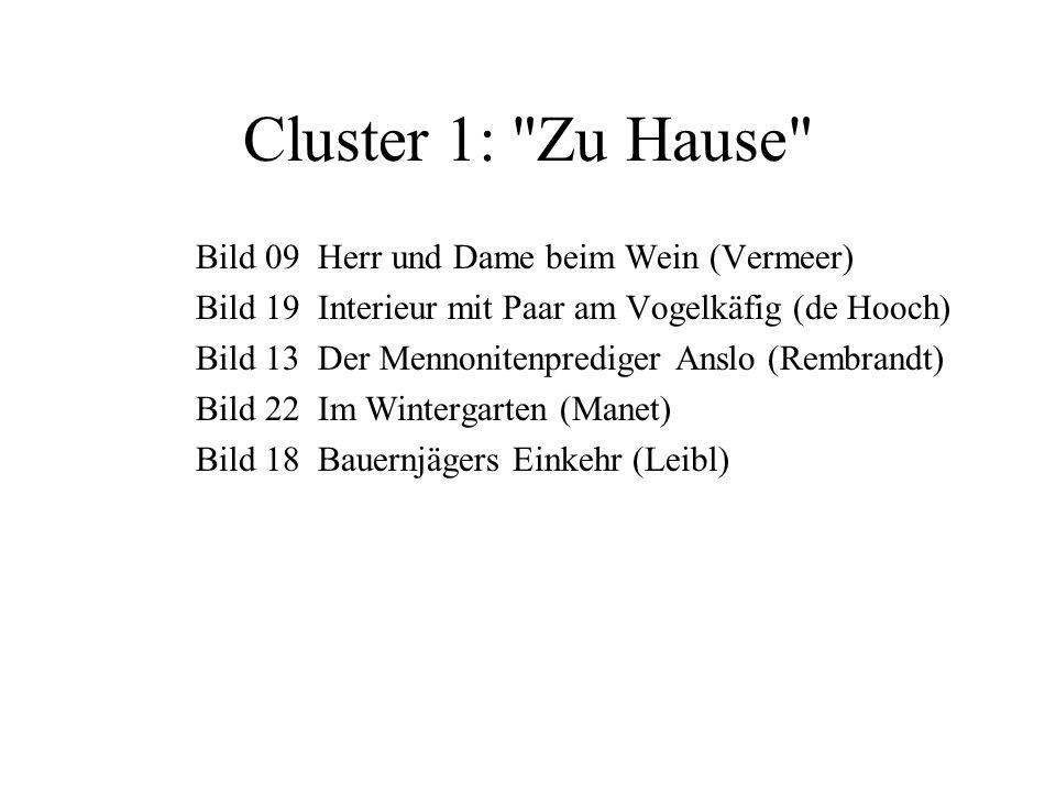 Cluster 1: Zu Hause Bild 09 Herr und Dame beim Wein (Vermeer)