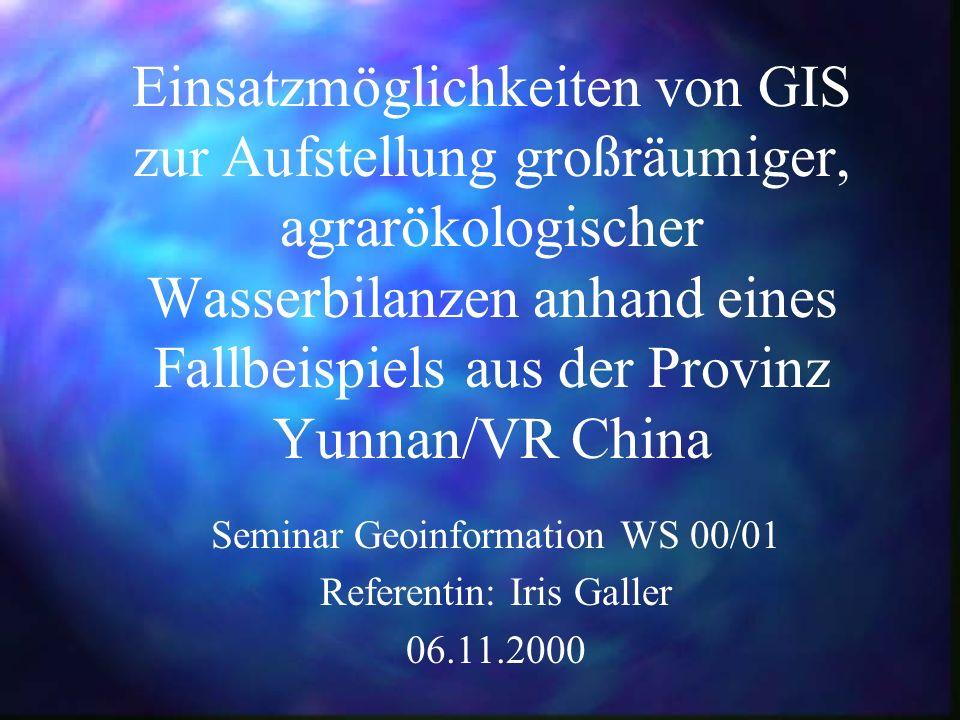 Seminar Geoinformation WS 00/01 Referentin: Iris Galler 06.11.2000