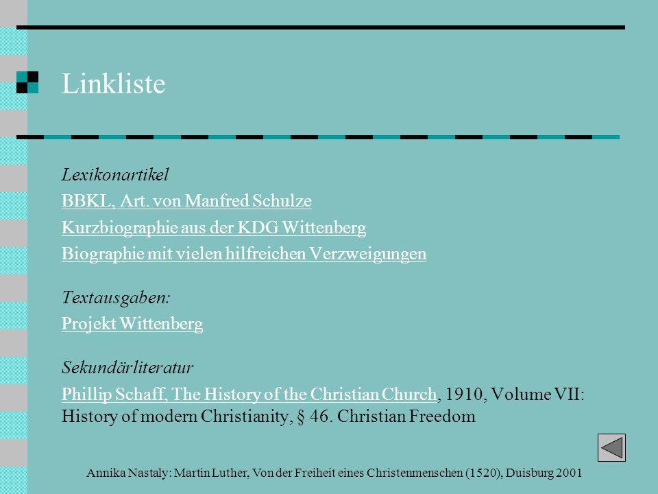 Linkliste Lexikonartikel BBKL, Art. von Manfred Schulze
