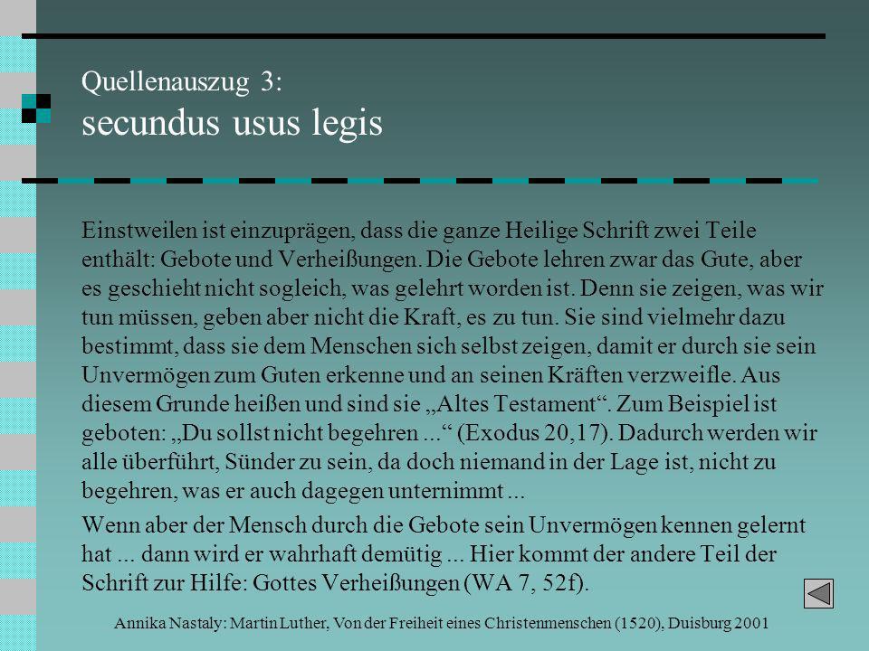 Quellenauszug 3: secundus usus legis