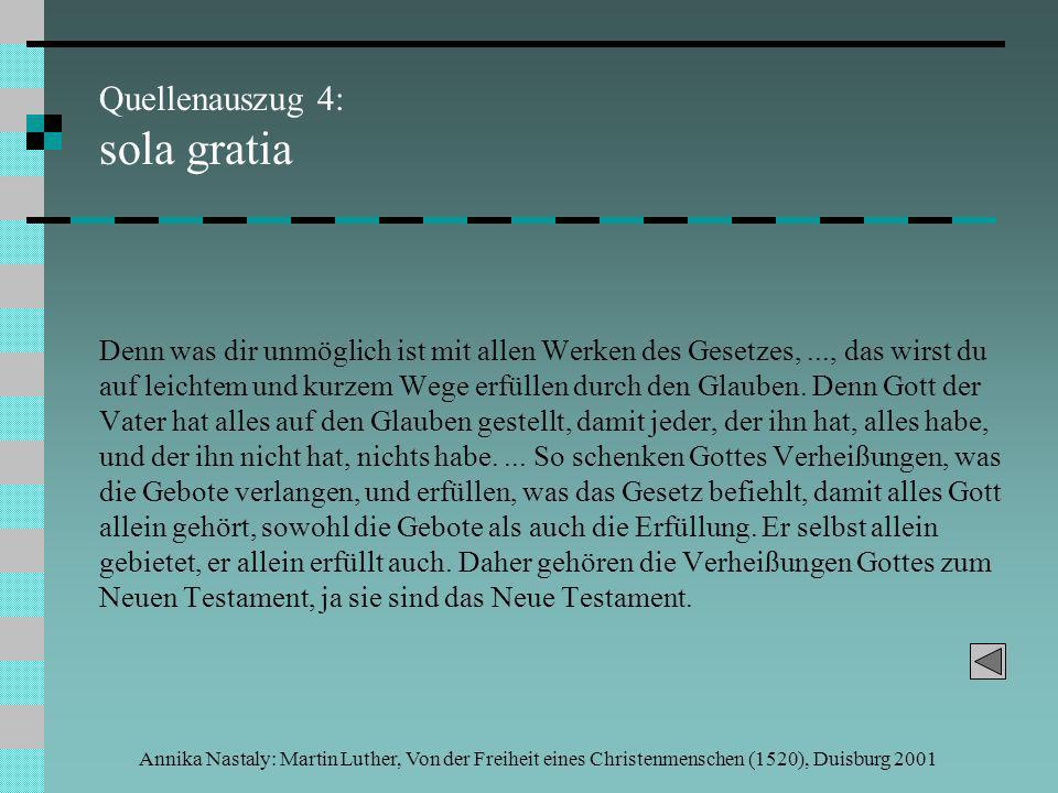 Quellenauszug 4: sola gratia
