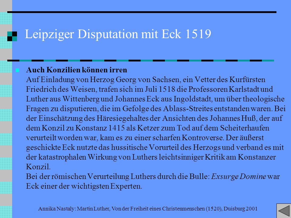 Leipziger Disputation mit Eck 1519