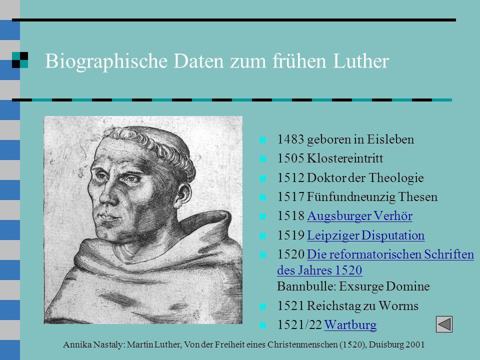 Biographische Daten zum frühen Luther