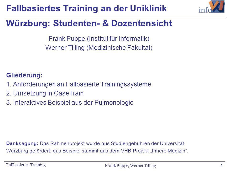 Fallbasiertes Training an der Uniklinik Würzburg: Studenten- & Dozentensicht