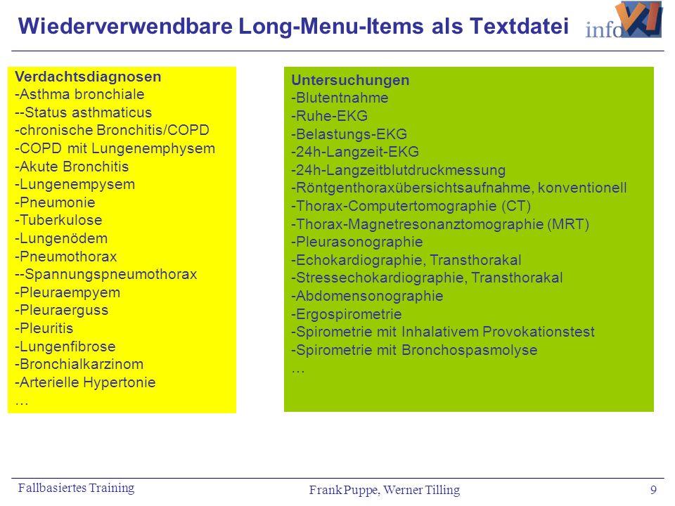 Wiederverwendbare Long-Menu-Items als Textdatei
