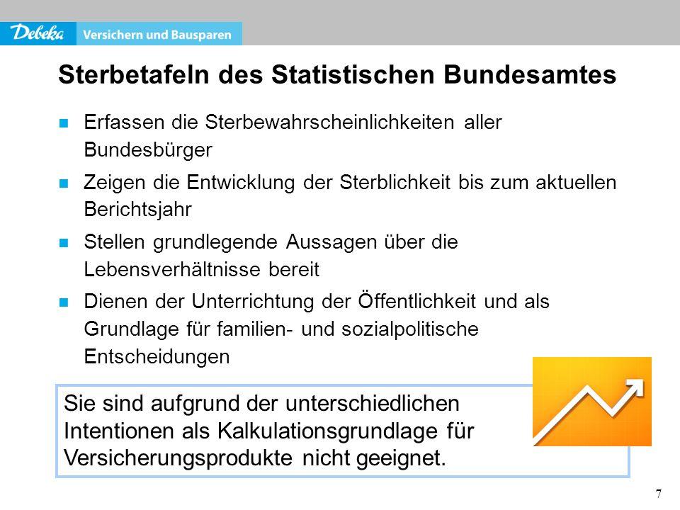 Sterbetafeln des Statistischen Bundesamtes