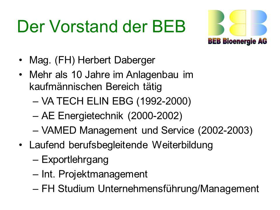 Der Vorstand der BEB Mag. (FH) Herbert Daberger