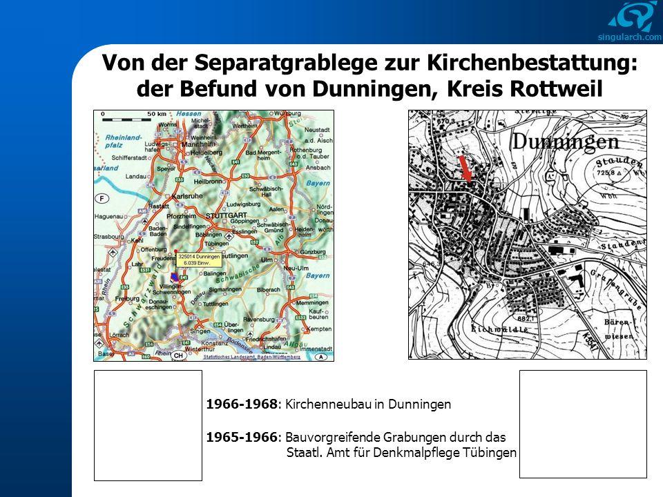 Von der Separatgrablege zur Kirchenbestattung: der Befund von Dunningen, Kreis Rottweil