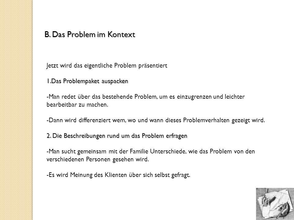 B. Das Problem im Kontext